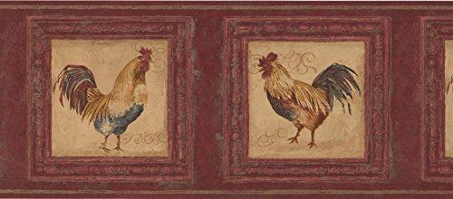 Red Rooster Border (Wallpaper Border - Rooster Wallpaper Border 5261 AU)