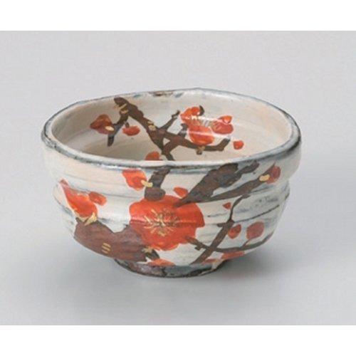 Matcha bowl plum Fukura bowl [12 x 11 x 6cm] strengthening Japanese instrument Liquor restaurant for hotel business