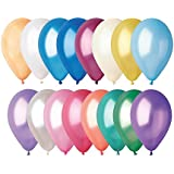 100 globos multicolores Pearly