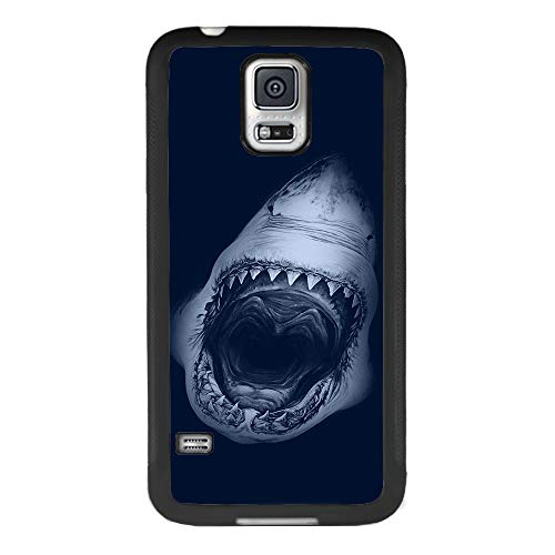 Case for Samsung Galaxy S5, Shark Jaws Anti-Scratch Hard Backplate Back Cover for Samsung Galaxy S5 Black Shock-Proof Protective Case [Anti-Slippery] (Galaxy S5 Case Jaws)