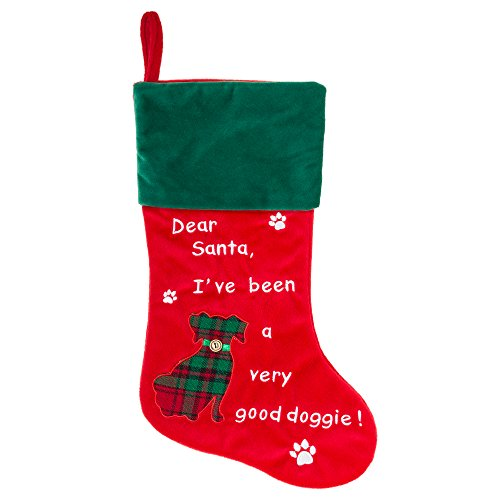 Dog Christmas Stocking - Dear Santa, I've been a very good doggie! - 18.5