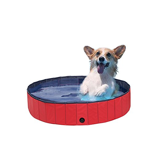 NACOCO Foldable PVC Dog Cat Water Pool Pet Outdoor Swimming Playing Pond in Summer (M)