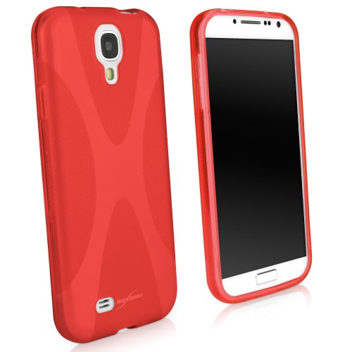 Galaxy S4 Case, BoxWave® [BodySuit] Premium Textured TPU Rubber Gel Skin Case for Samsung Galaxy S4 - Scarlet Red