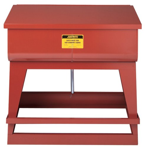 Justrite 27220 18-Gauge Coated Steel Floor Standing Rinse Tank, 22 Gallon Capacity, 35-1/4