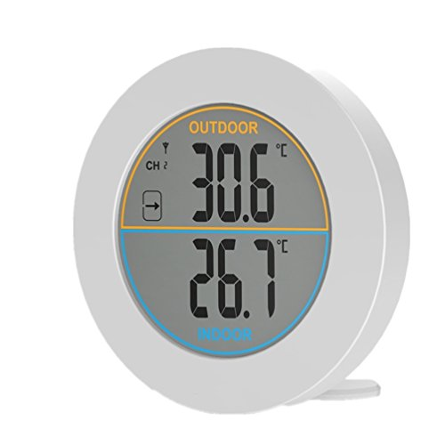 GAOAG Round Thermometer - Digital Thermometer Wireless Indoor & Outdoor Temperature Monitor by GAOAG