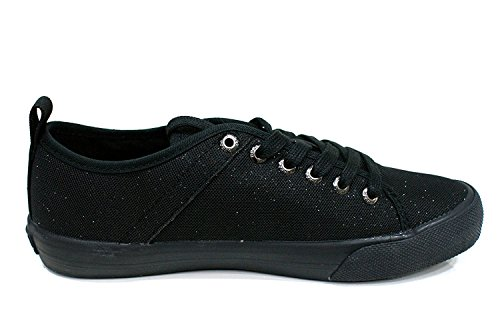 Jolie 35 Black Guess Donna Sneaker Canvas Metallic RAfAxT