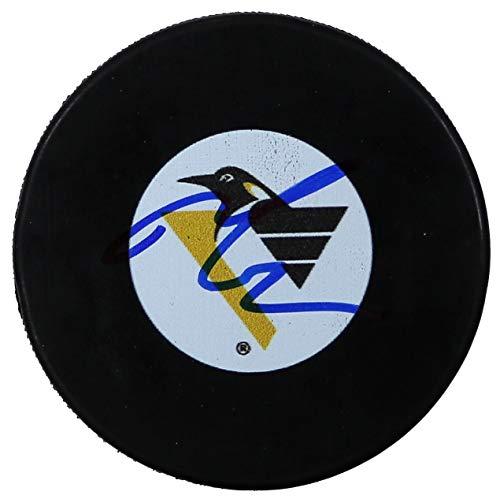 Mario Lemieux Pittsburgh Penguins Signed Autographed Penguins Retro Logo NHL Hockey Puck COA ()