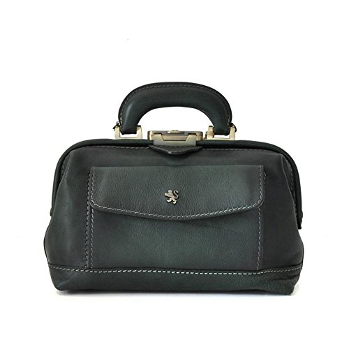 Pratesi Italian Aged Leather Doctor's Handbag (dark green)