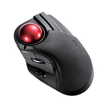 dd1d8bd3ac5 ELECOM M-HT1DRBK Wireless Trackball Mouse - Extra Large Ergonomic Design,  8-Button