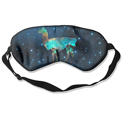 VANKINE Llama Lama Glama Galaxy Natural Silk Sleep Mask & Blindfold Super-Smooth Eye Mask