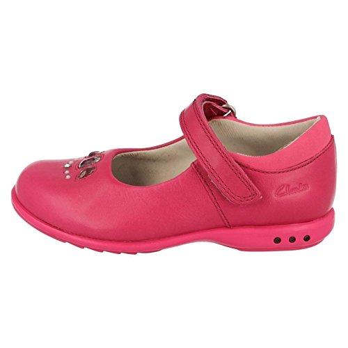 Clarks Trixi Spice Girls Schuh in rosa oder lila Leder Pink 8½ F
