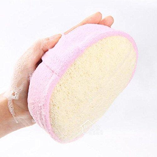 MIJORA-1 Pc New Natural Loofah Sponge Bath Rub Exfoliating Bathing Accessories - Satin Natural Sconce