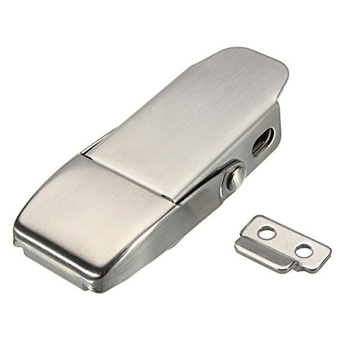 New 304 Stainless Steel Concealed Toggle Latch Safety Catch Non-Locking Spring Loaded