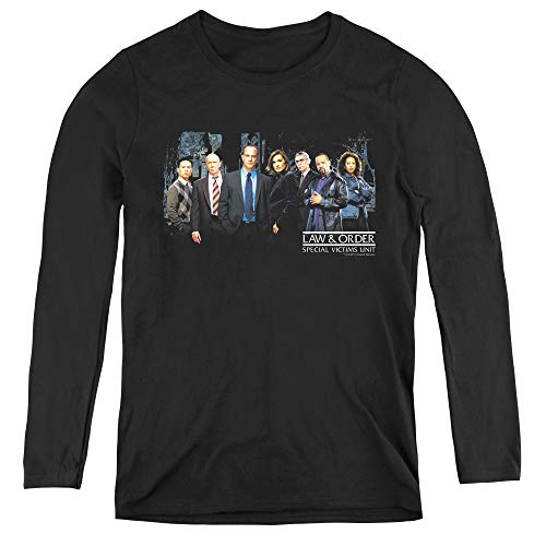 Law and Order SVU Cast Adult Long Sleeve T-Shirt for Women, Large Black