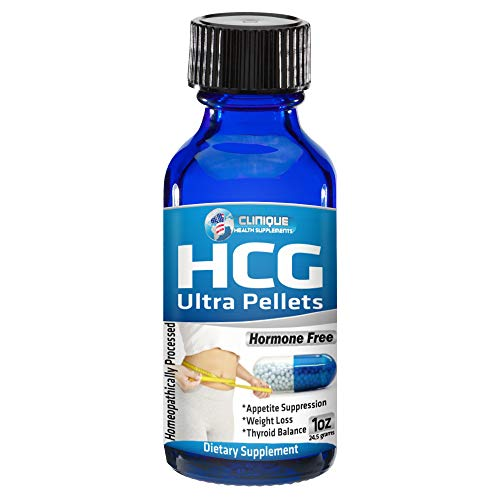 1Clinique's HCG Ultra Pellets | Fast Acting Pellets | 120 Pellets | Weight Loss - Energy - Appetite Suppression - Thyroid Balance | Made in USA