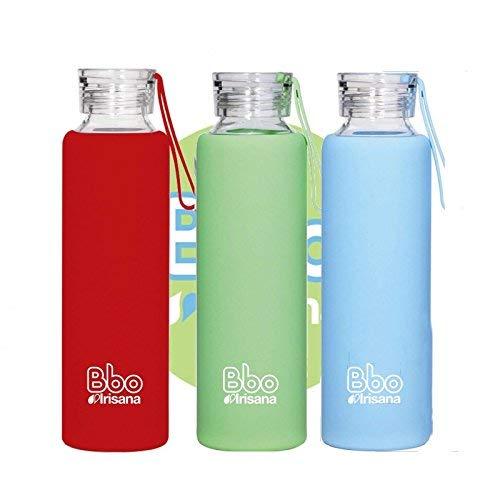 Irisana BBO Botella con Funda, Azul, 550 ml: Amazon.es: Deportes y aire libre