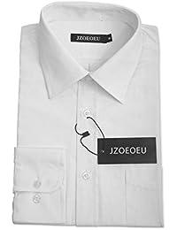 JZOEOEU Men's Dress Shirt Regular Collar Long Sleeve Dress Shirt