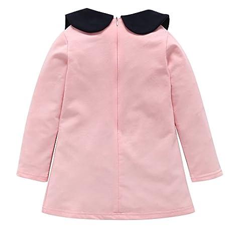 feiXIANG Vestidos para niñas para niños Vestidos para bebés Vestidos de Fiesta de cumpleaños Vestidos de Fiesta para niñas Vestidos de Boda de Color sólido ...