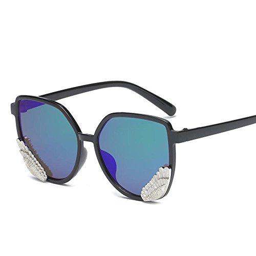 Aoligei Élégant Wings lunettes de soleil hommes et femmes gelée coloré transparent couleur Angel Wings lunettes de soleil BhtVsqFeX