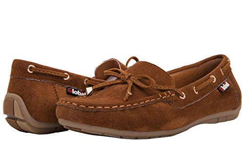 GLOBALWIN Women's Brown Loafer Shoes 10 M -