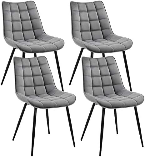 Yaheetech 4pcs Dining Chairs Fabric Side Dining Chairs Modern Style Furniture Chair
