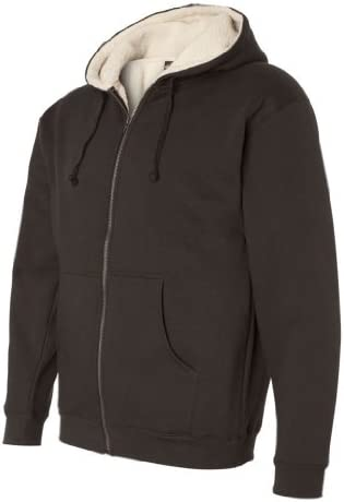 Independent Trading Co. Mens Sherpa Lined Full-Zip Hooded Sweatshirt EXP40SHZ