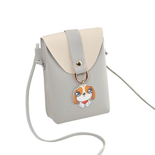 Bag Bag Bag Fashion Bag Women Phone Bag Cover Crossbody Pink SOMESUN Gray Hanging Shoulder Dog Ornaments Shoulder Dog Coin tnYAaBqw