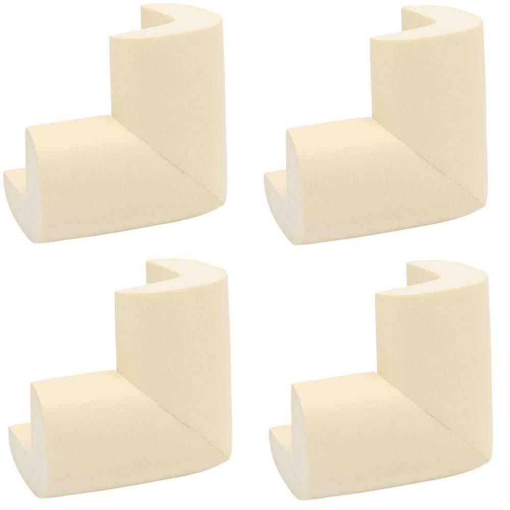 blanco Blanco Talla:4 St/ück SuperglockT Protector de bordes de espuma para mesa forma L, autoadhesivo, para ni/ños y beb/és