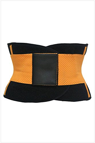 peggynco-womens-orange-sweat-band-waist-training-belt-size-m