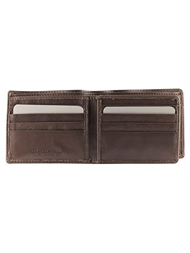 with Men's Leather Wallet RFID Secure Mancini Pocket Cognac Coin EwXRqH4x