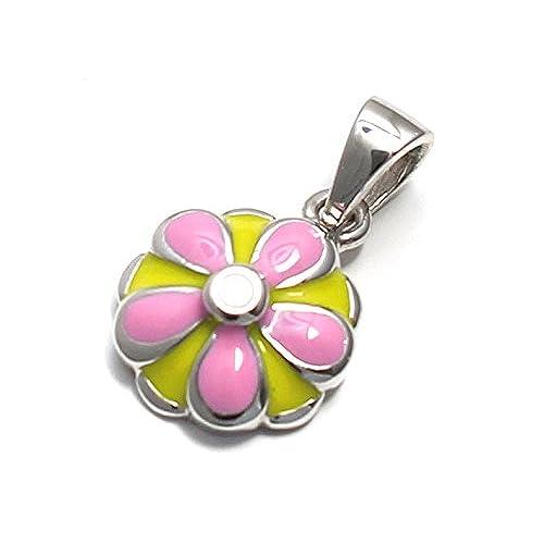 937d6ff724ba Barato Color rosa margarita colgante de plata de ley 925 - www ...