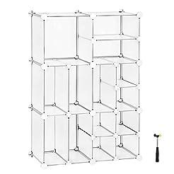 SONGMICS Cube Storage, Plastic Closet Or...