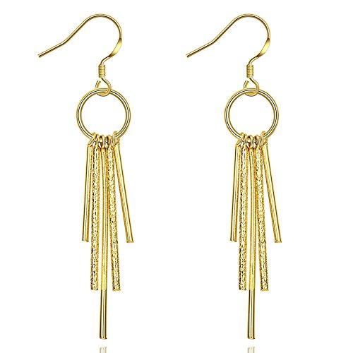 Tassel earrings,Wholesale Nickle Free Antiallergic Real Gold Plated ,Earrings jewelry for - Nickle Free