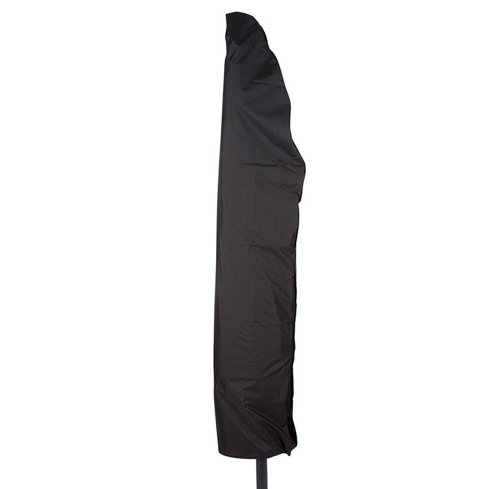 280cm Housse de Parasol Deporte en Oxford + Sac Rangement Bache Etanche Imperméable Protection Cover pour Parasol à Mât Excentré Décentré Résistant Protection UV Anthracite