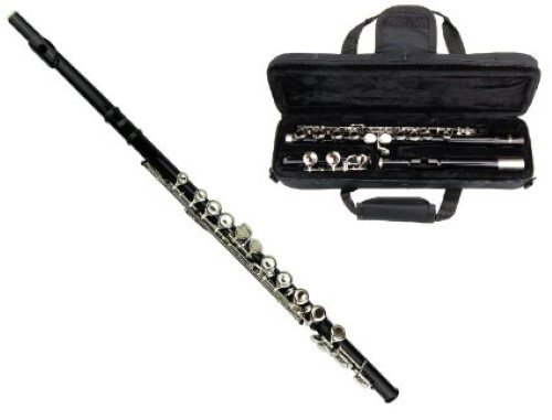 MERANO BLACK LACQUER PLATED FLUTE KEY OF C WITH CASE