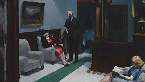 Hopper Painting - Berkin Arts Edward Hopper Giclee Art Paper Print Art Works Paintings Poster Reproduction(Hotel Lobby)