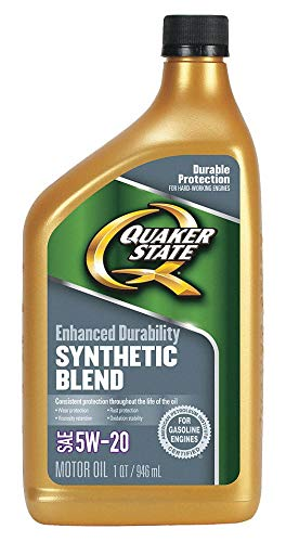 (Synthetic Blend Engine Oil, 1 qt. Bottle, SAE Grade: 5W-20, Amber/Brown- Pack of 5)