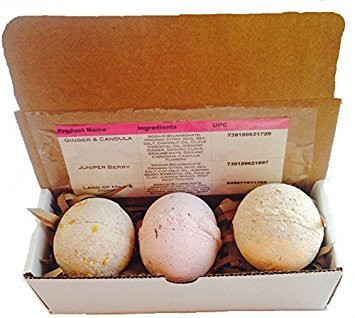 organic-bath-bomb-gift-set-of-3-ginger-and-candula-juniper-berry-and-land-of-milk-honey-7-8-oz-large