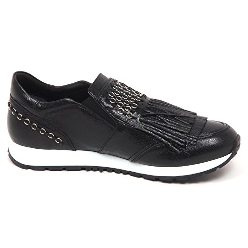 Effetto Tod's Cracked crepato E5156 Nero Sneaker Donna on Slip Woman Effect Shoe AxawwqtX