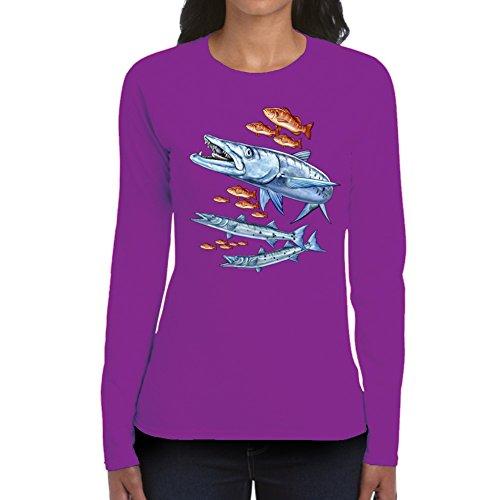 Women's Barracuda Purple Long Sleeve (XX - Long Barracuda Sleeve