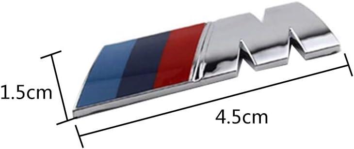 YHJGKO 2pcs/FOR/M/LOGO/Badge/Fender/Sticker/,Car/Styling/ABS/Car/M/Power/Emblem/Badge/Fender/Sticker/For/BMW/E46/E39/E90/E36/E60/E34/&nbs
