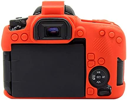 YANTAIANJANE Camera Accessories Soft Silicone Protective Case for Canon EOS 77D Color : Red