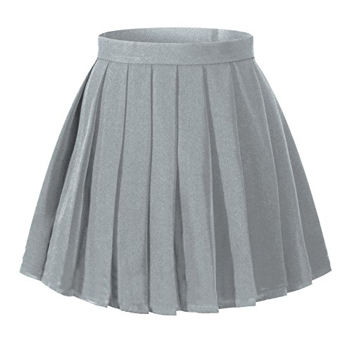 (Girl`s High Waist Pleated Skirts School Uniform Costums for Schoolgirl)