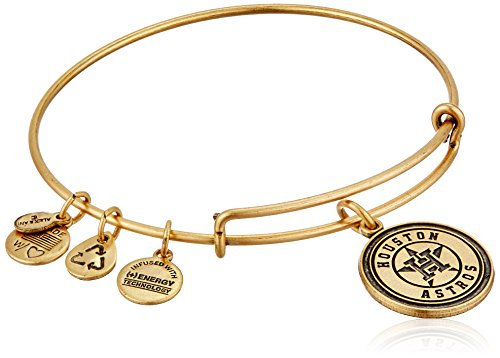 Alex and Ani Houston Astros Cap Logo Expandable Rafaelian Gold Bangle Bracelet