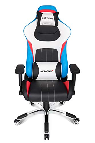 AKRacing Masters Series Premium Gaming Chair with High Backrest, Recliner, Swivel, Tilt, 4D Armrests, Rocker and Seat Height Adjustment Mechanisms with 5/10 warranty - Tri AKRacing