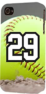 Softball Sports Fan Player Number 29 Plastic Snap On Decorative iphone 5c Case