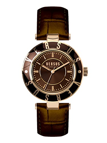 Versus by Versace Women's SP8170015 Logo Analog Display Quartz Brown (Elle Womens Leather Watch)