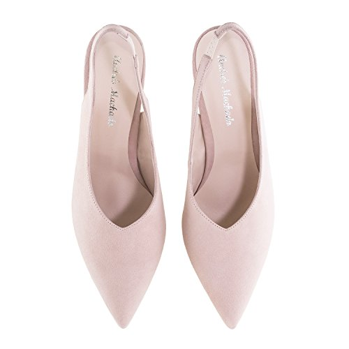 Made Andres in Stilettos Petite Suede Sizes Slingback Leather Nude Spain amp; Paula Suede Leather Machado Large USwxvaU