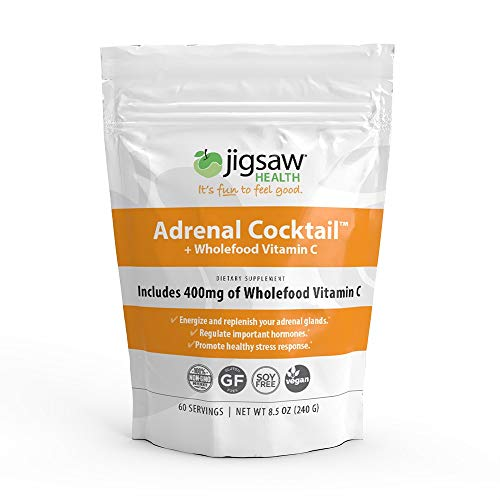 Jigsaw Health - Adrenal Cocktail Packets with Whole-Food Vitamin C, Potassium, and Redmons Real Salt. Supports Adrenal Glad Function and Combats Adrenal Fatigue
