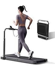 WalkingPad R2 Treadmill Running and Walking Folding Treadmill Manual Automatic Modes Foldable Walking Pad Non-Slip Smart LCD Display Fitness Equipment 0.3-6.2MPH (Black)